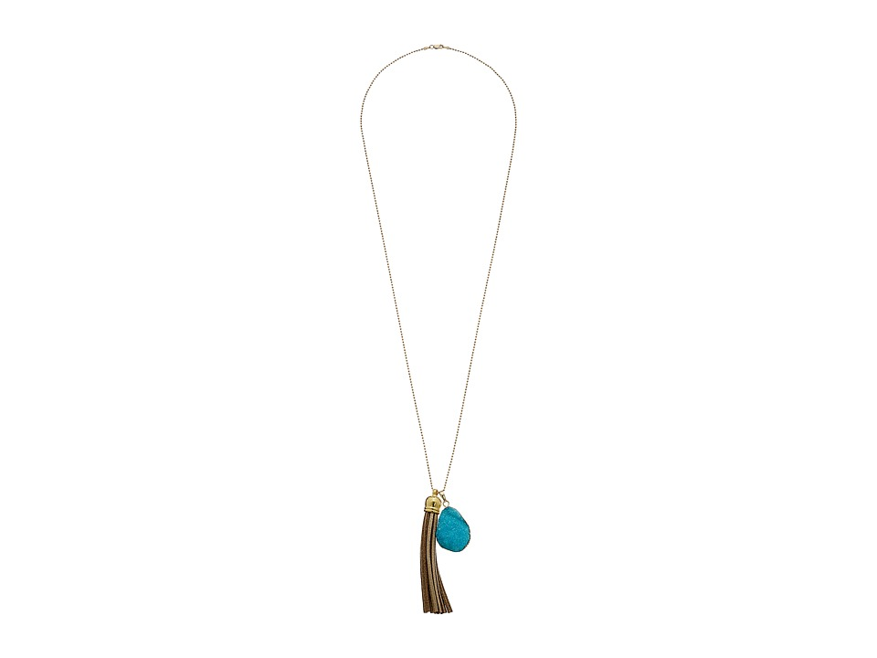 Dee Berkley - Positive Energy Necklace (Turquoise/Brown) Necklace