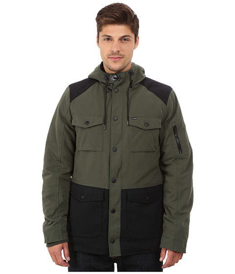 Hurley - Occupy Parka (Carbon Green) Men's Coat