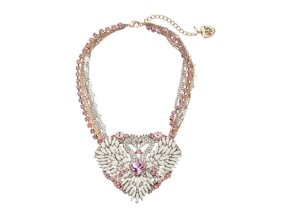 Betsey Johnson - Ballerina Rose Swan Heart Pendant Necklace (Multi) Necklace