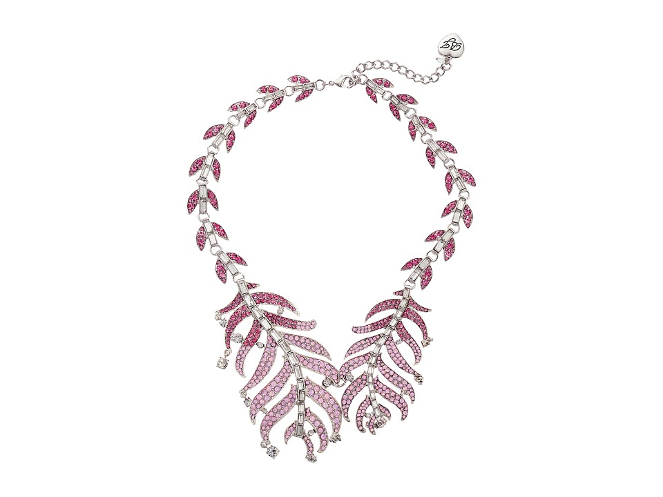 Betsey Johnson - Ballerina Rose Feather Collar Necklace (Pink) Necklace