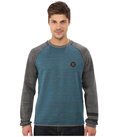 Hurley - Phantom Arena Crew Fleece (Night Factor Heather) Men's Sweatshirt