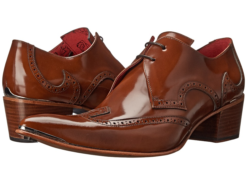 Jeffery-West - Brogue (Tan/Red) Men's Shoes