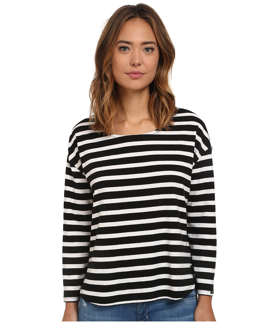 Obey - Camile Long Sleeve (Black Multi) Women
