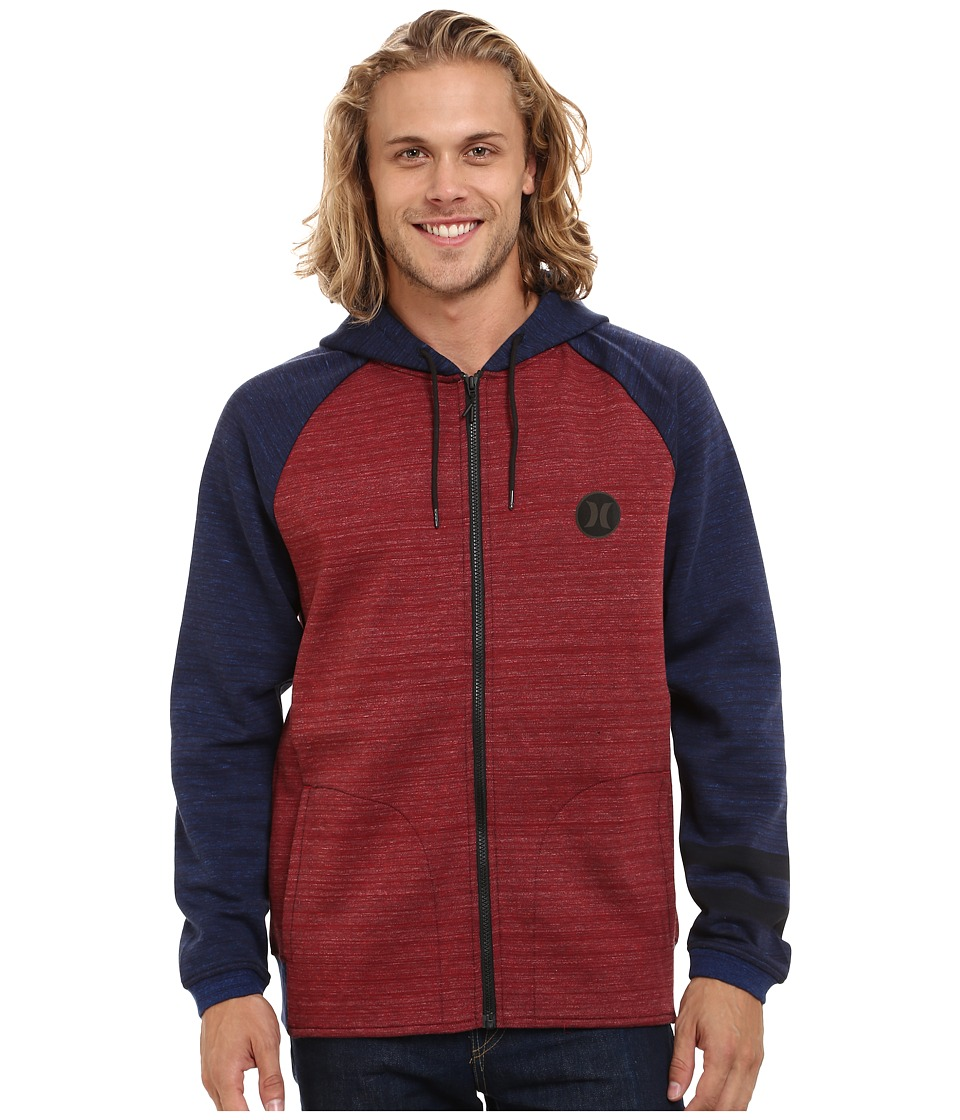Hurley - Phantom Apex Zip Fleece (Light Gym Red) Men