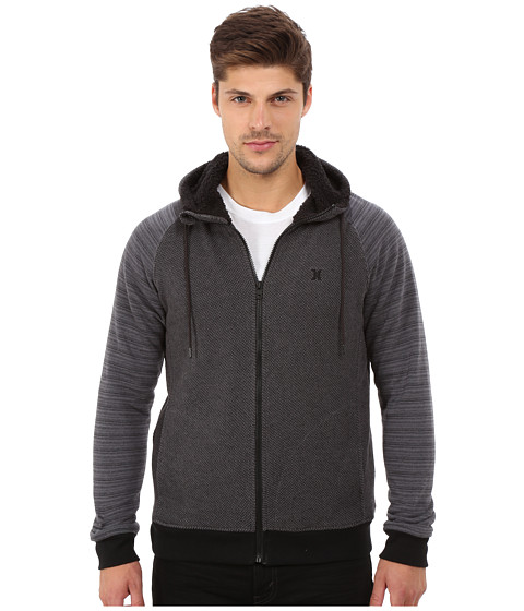 Hurley - Powerplant Sherpa Zip (Black) Men's Sweatshirt