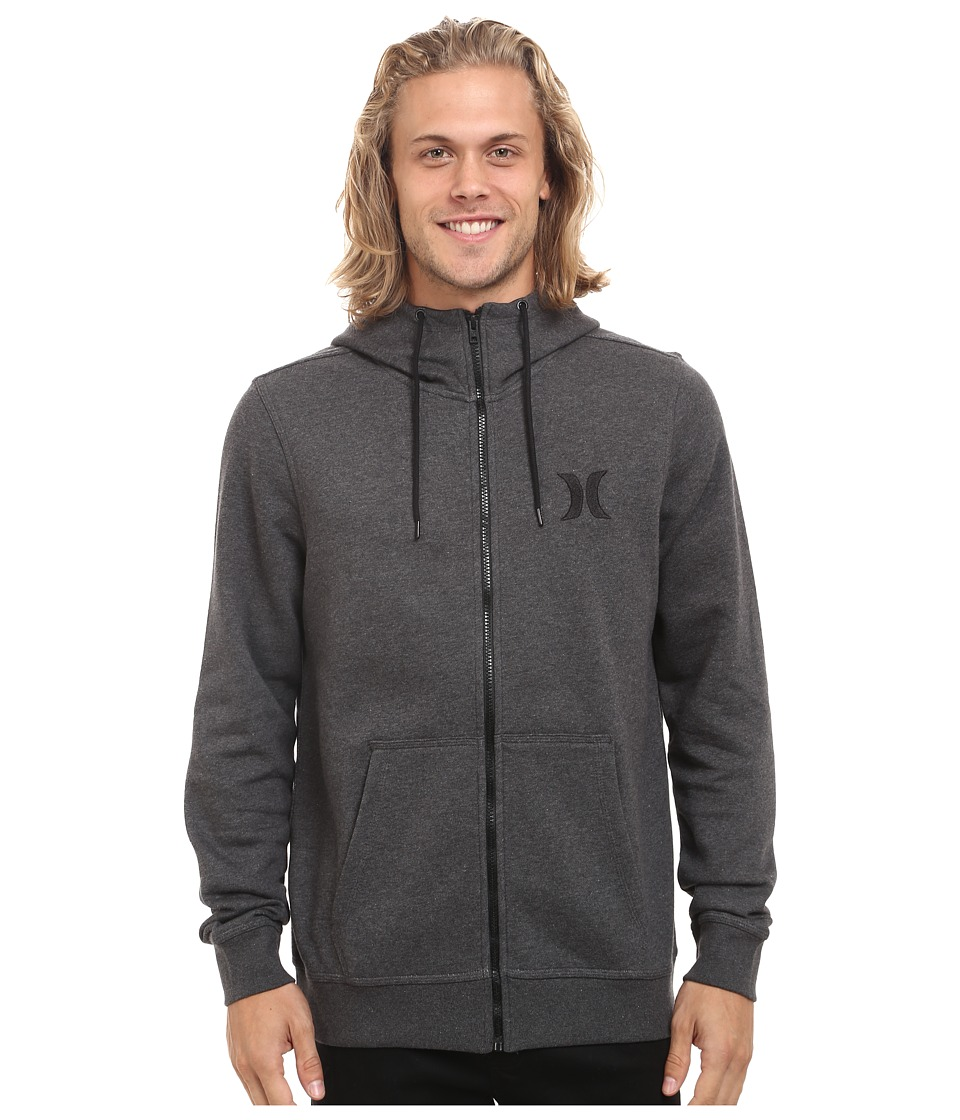 Hurley - Surf Club Icon Zip (Black Heather) Men