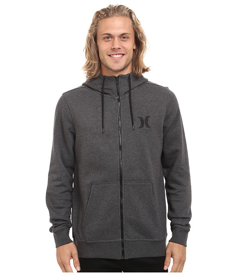 Hurley - Surf Club Icon Zip (Black Heather) Men's Sweatshirt
