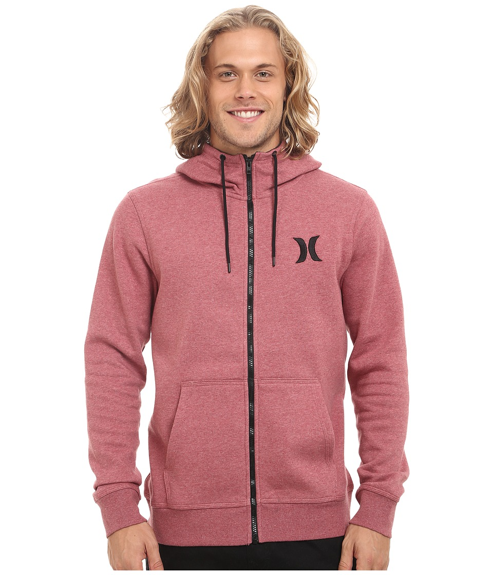Hurley - Surf Club Icon Zip (Light Gym Red) Men's Sweatshirt