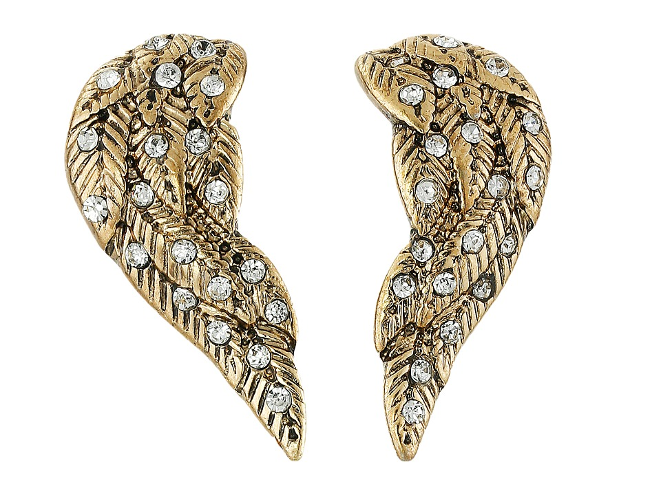 Betsey Johnson - Heaven Sent Wing Stud Earrings (Crystal) Earring