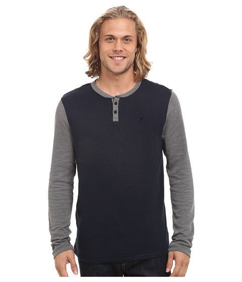 Hurley - Orange Street Henley (Dark Obsidian) Men