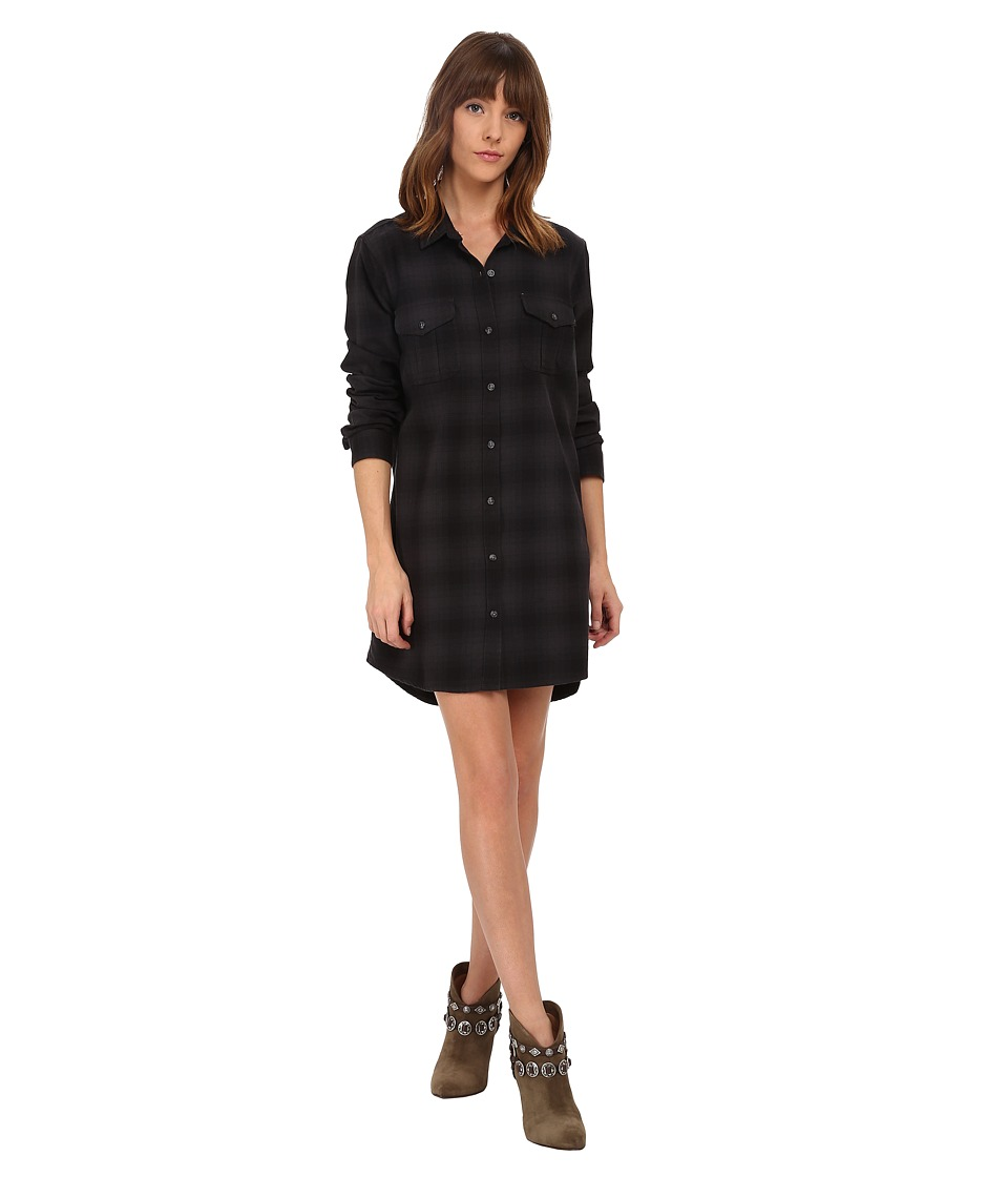 Obey - Abbey Shirtdress (Black Multi) Women's Dress