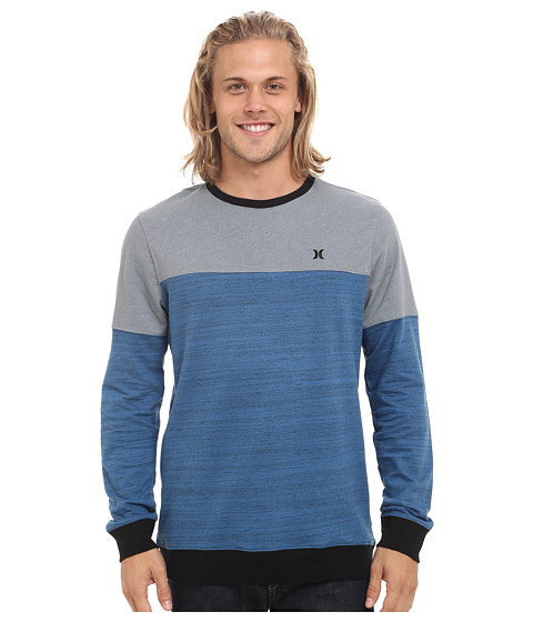 Hurley - Seapoint Long Sleeve Crew (Brigade Blue) Men