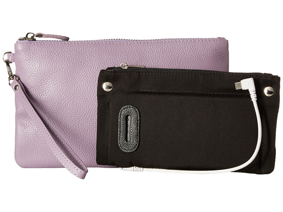 Mighty Purse - Cow Leather Charging Wristlet (Lilac) Handbags