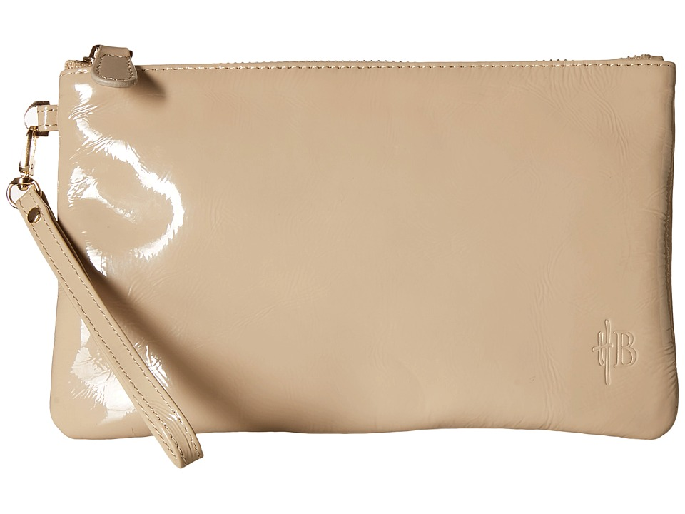 Mighty Purse - Patent Cow Leather Wristlet (Cafe Au Lait/Patent) Wristlet Handbags