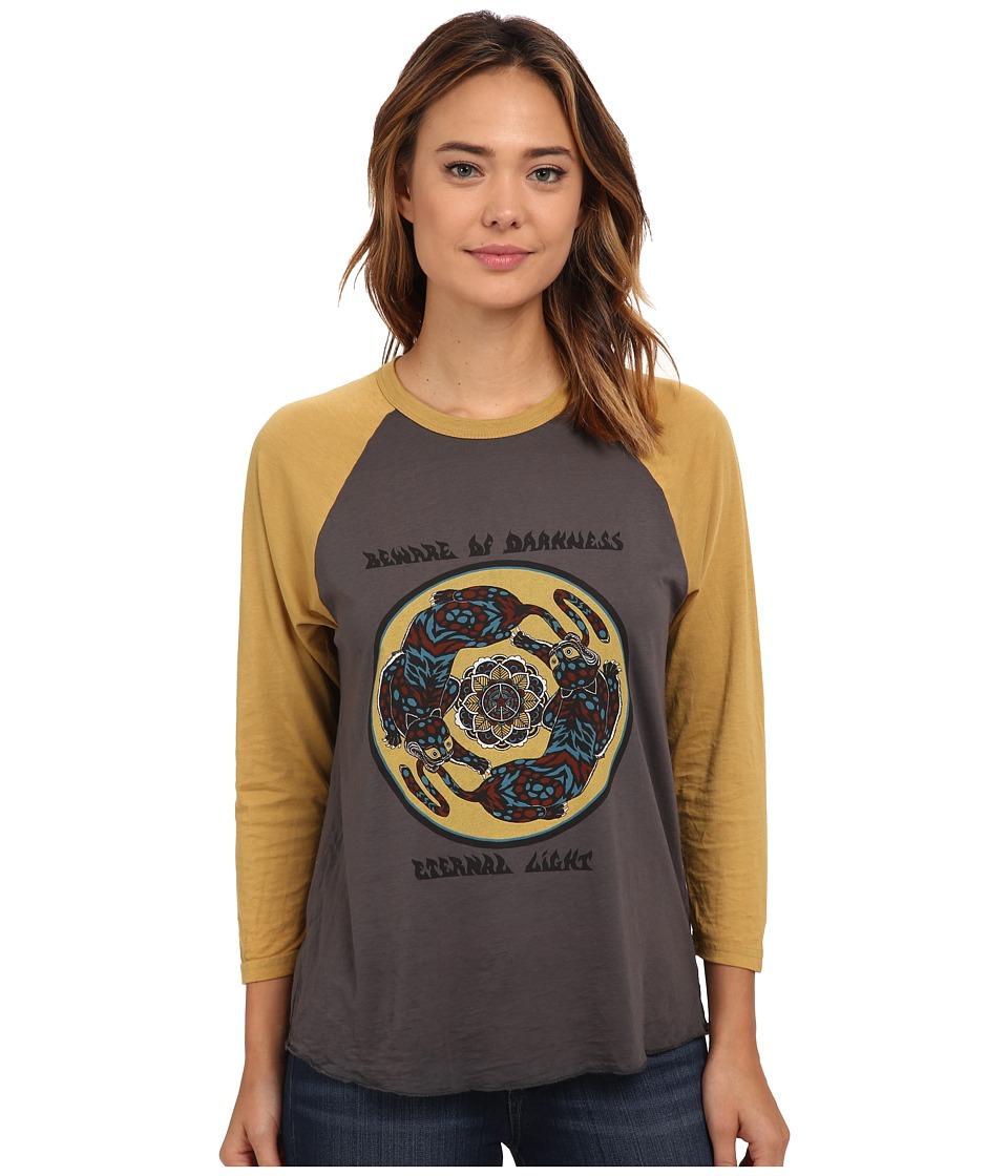 Obey - Tiger Mandala Raglan (Graphite/Mustard) Women