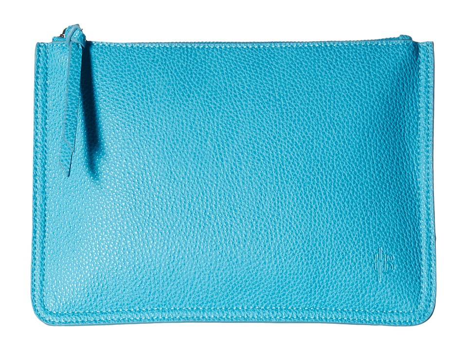 Mighty Purse - Vegan Leather Charging Two-Tone Clutch (Blue/Silver) Clutch Handbags