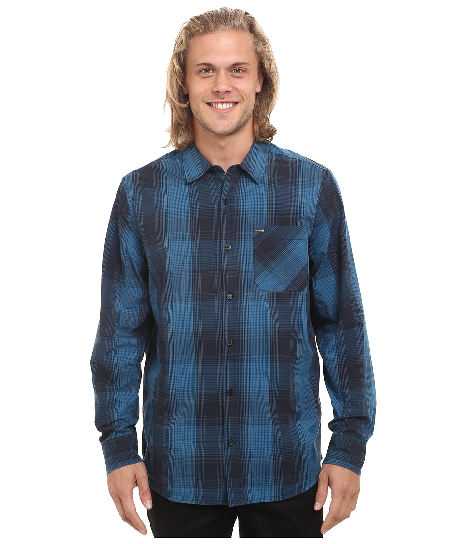 Hurley - Creek Long Sleeve (Brigade Blue) Men's Long Sleeve Button Up
