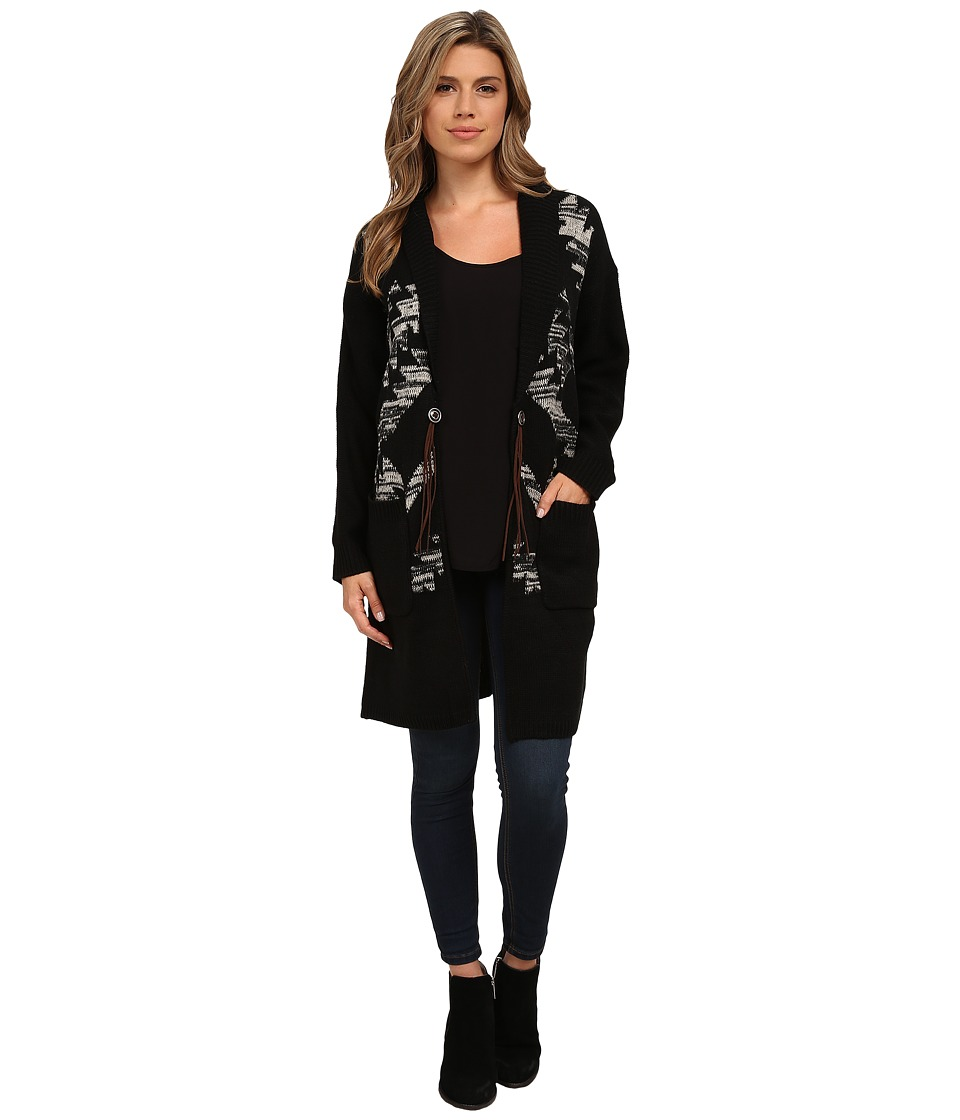 Obey - Coven Sweater Coat (Black) Women