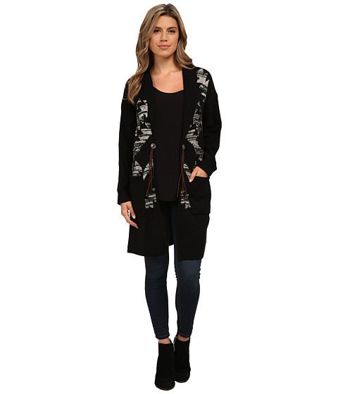 Obey - Coven Sweater Coat (Black) Women's Coat