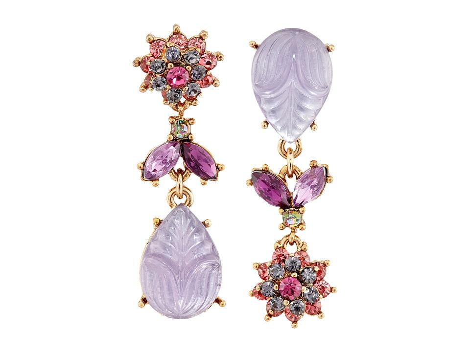 Betsey Johnson - Fall Follies Flower Non-Matching Earrings (Multi) Earring
