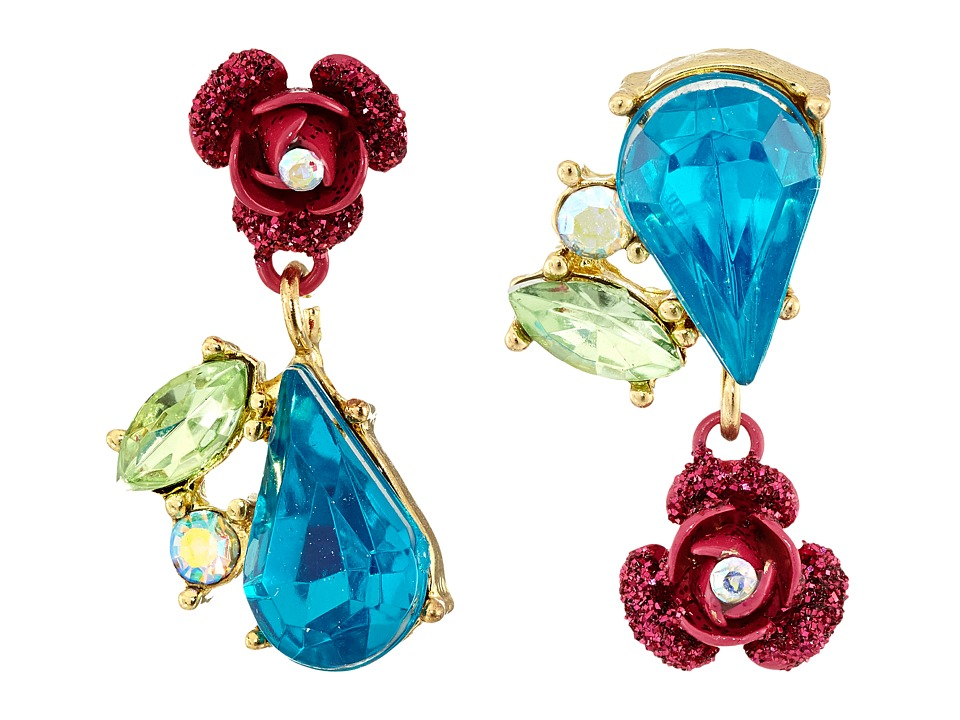 Betsey Johnson - Bauble Flower Non-Matching Earrings (Multi) Earring