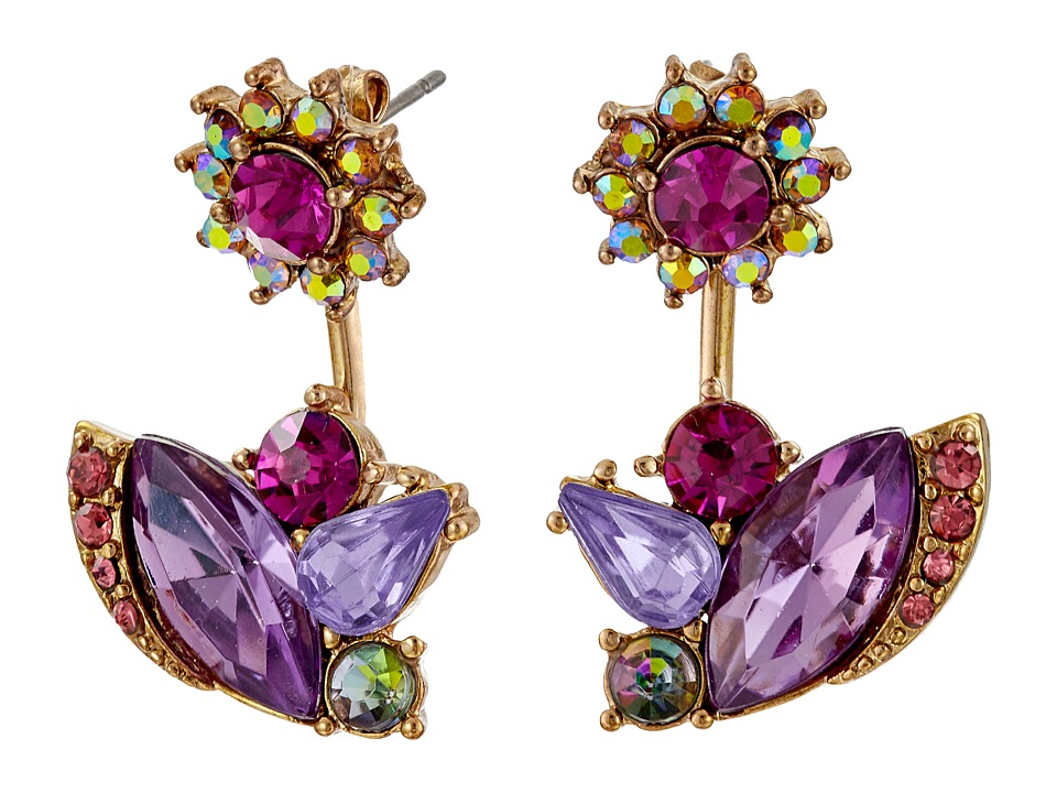 Betsey Johnson - Fall Follies Flower Front/Back Earrings (Multi) Earring