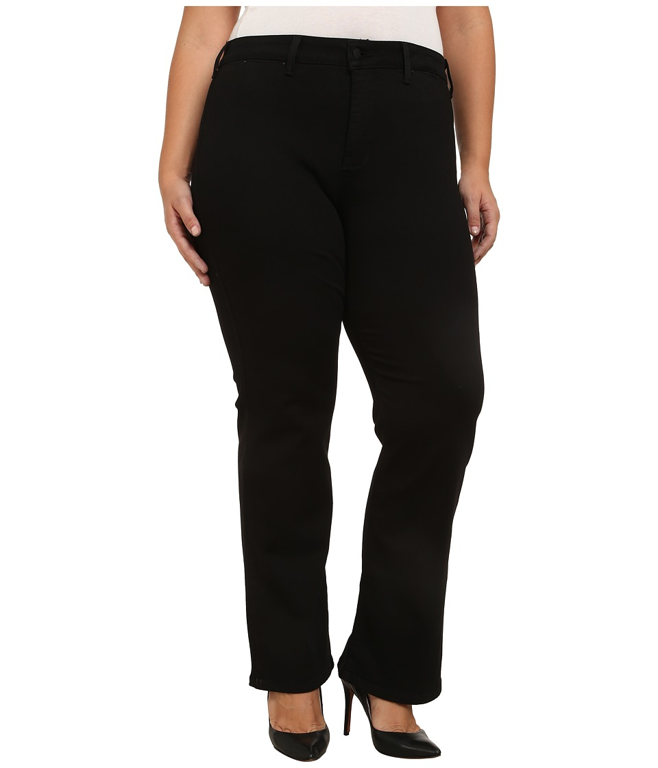 NYDJ Plus Size - Plus Size Isabella Trousers in Black (Black) Women's Jeans plus size,  plus size fashion plus size appare