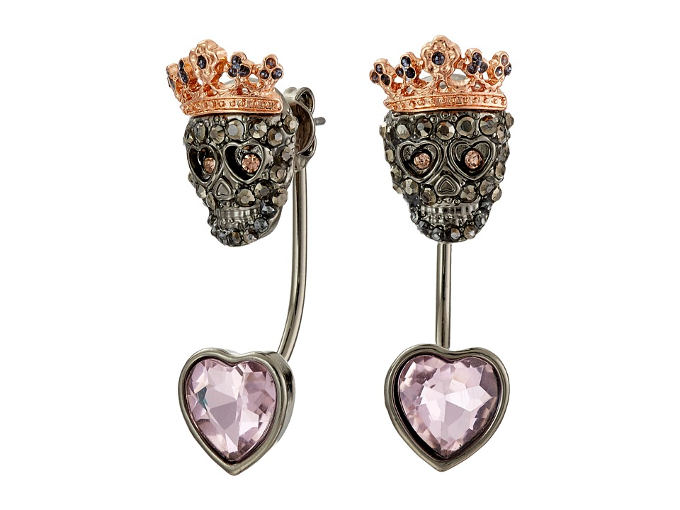 Betsey Johnson - Bauble Skull Front/Back Earrings (Multi) Earring