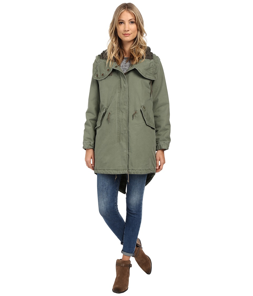 Obey - Brighton Parka Jacket (Army) Women's Coat