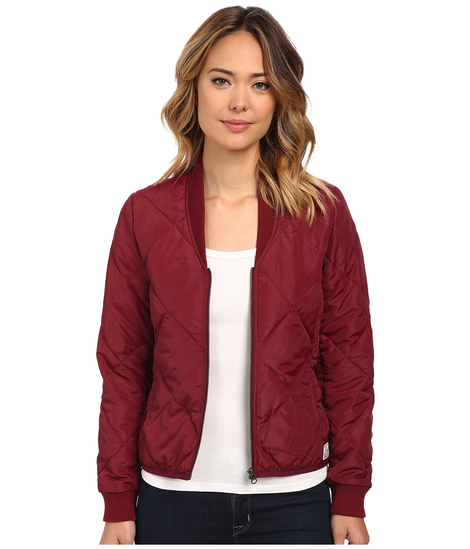 Obey - Darby Lightweight Puffer Jacket (Oxblood) Women's Coat