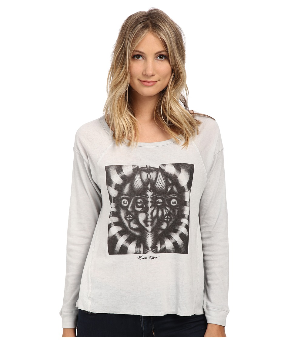 Obey - Balance Teresa Long Sleeve (Vapor Blue) Women's Clothing