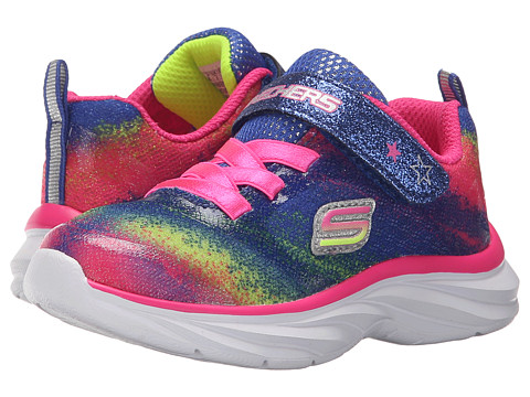 SKECHERS KIDS - Pepsters (Toddler) (Neon/Pink/Multi) Girls Shoes