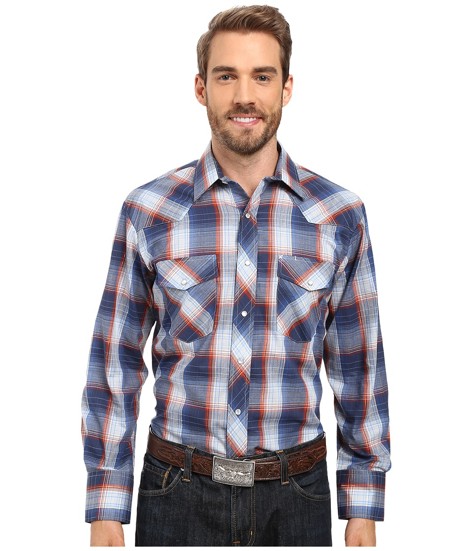 Roper - 0301 Sky Navy Plaid w/ Gold Lurex (Blue) Men's Clothing