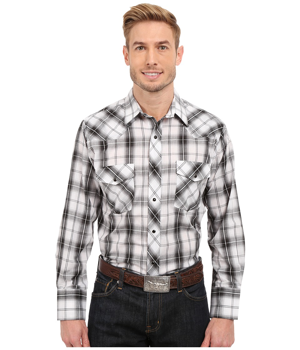 Roper - 0303 Dark Night Plaid w/ Silver Lurex (Black) Men