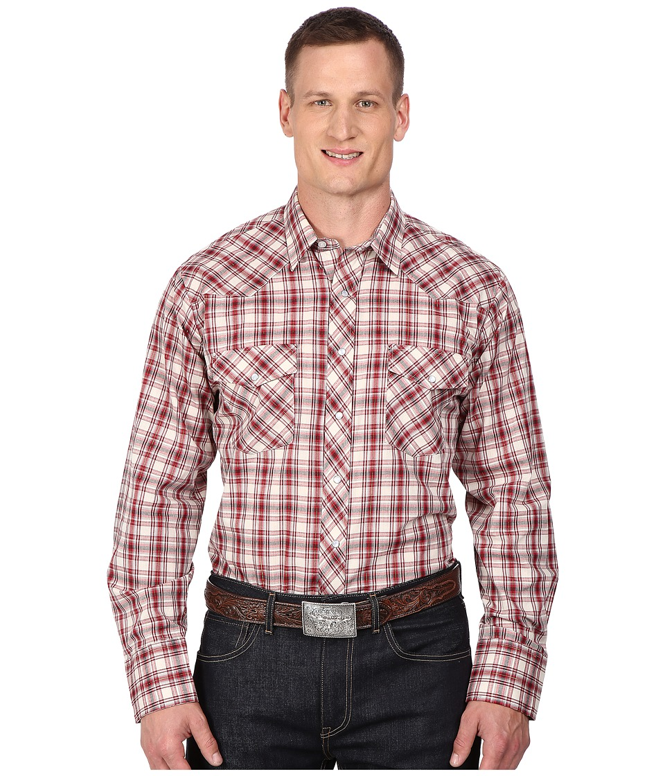 Roper - Big Tall 0298 Cream Red Plaid w/ Gold Lurex (White) Men's Clothing