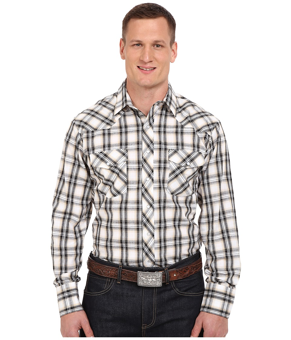 Roper - Big Tall 0299 Black Khaki Plaid (Black) Men's Clothing