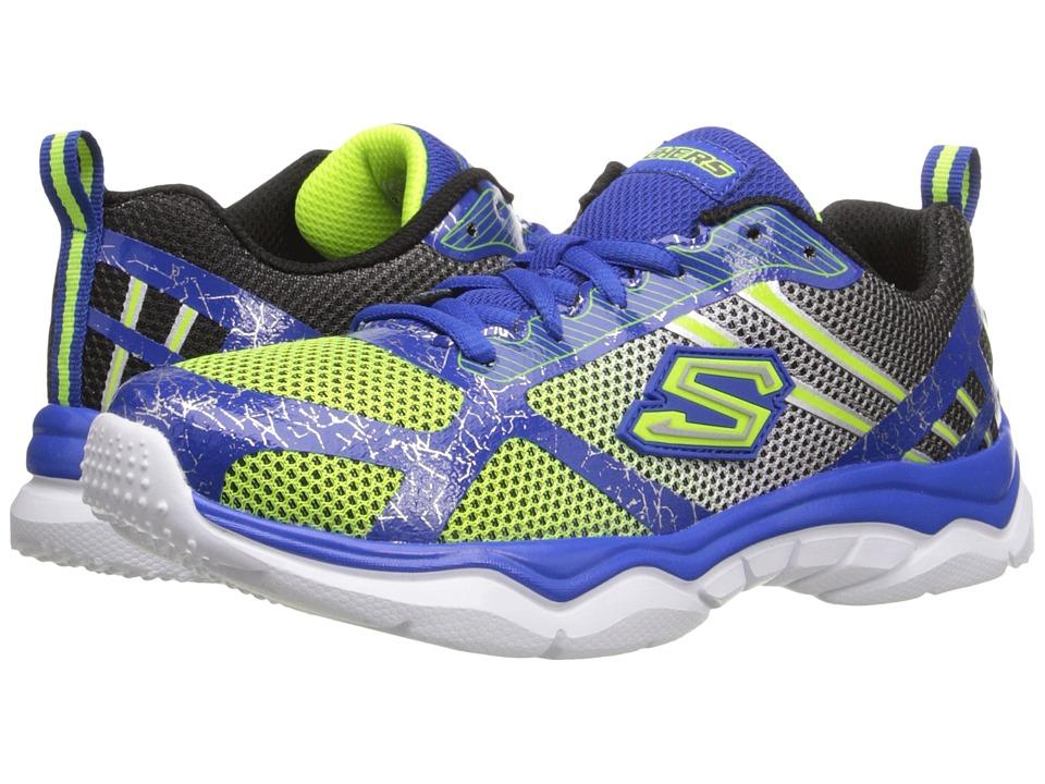 SKECHERS KIDS - Neutron (Little Kid/Big Kid) (Lime/Blue) Boys Shoes