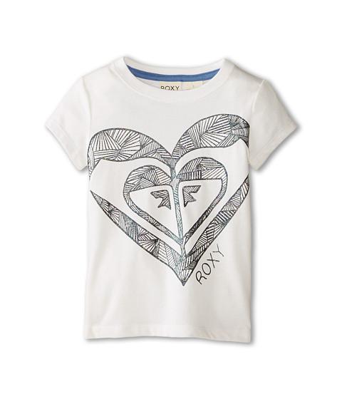 Roxy Kids - All Heart Tee (Toddler/Little Kids) (White) Girl