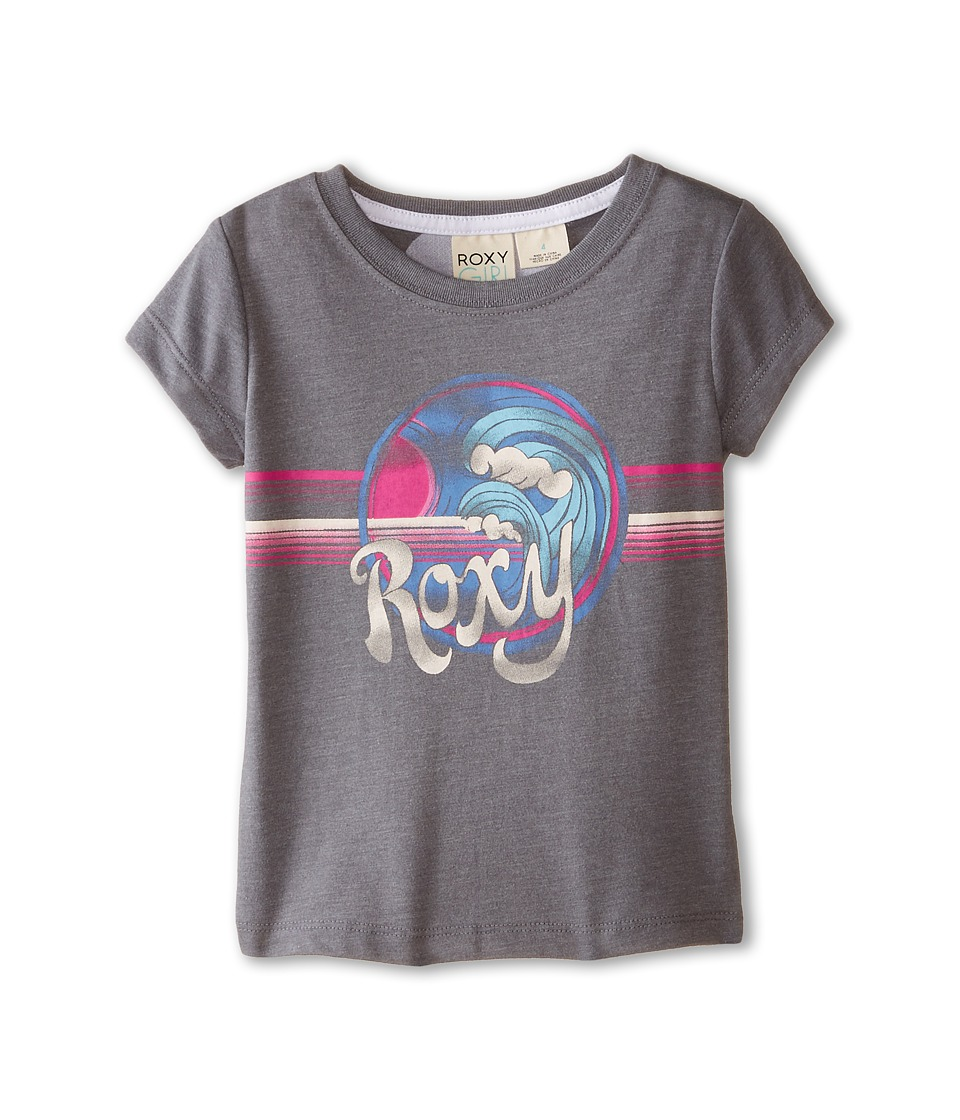 Roxy Kids - 90s Wave Tee (Toddler/Little Kids) (Heritage Heather) Girl
