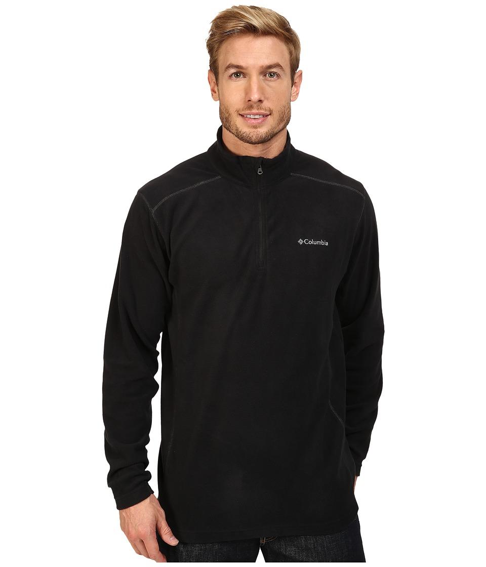 Columbia - Klamath Range II Half Zip (Black 1) Men's Long Sleeve Pullover