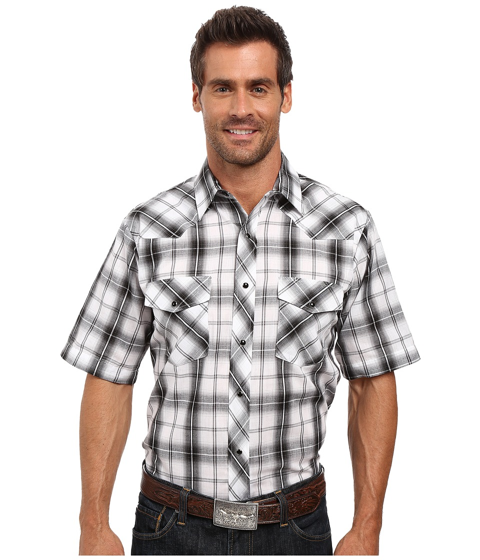 Roper - 0303 Dark Night Plaid w/ Silver Lurex (Black) Men's Clothing