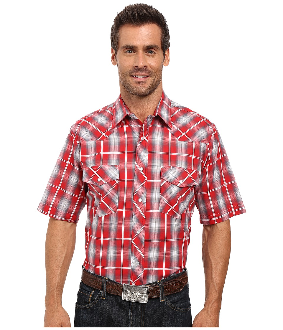 Roper - 0297 Red Grey Plaid (Red) Men's Clothing