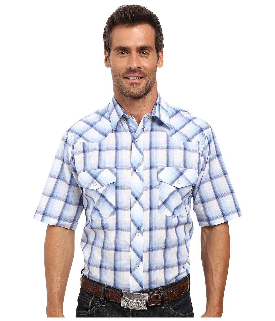 Roper - 0296 Blue White Plaid (Blue) Men's Clothing