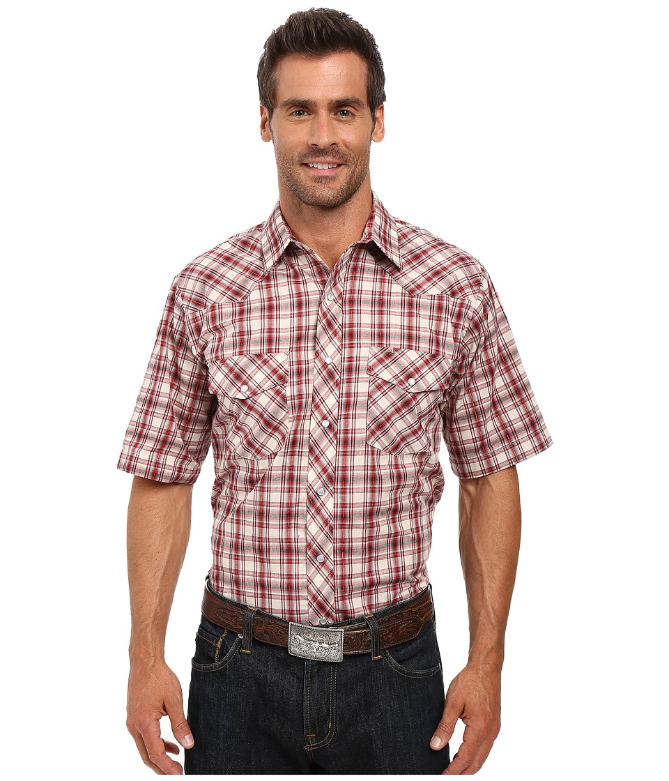 Roper - 0298 Cream Red Plaid w/ Gold Lurex (White) Men's Clothing