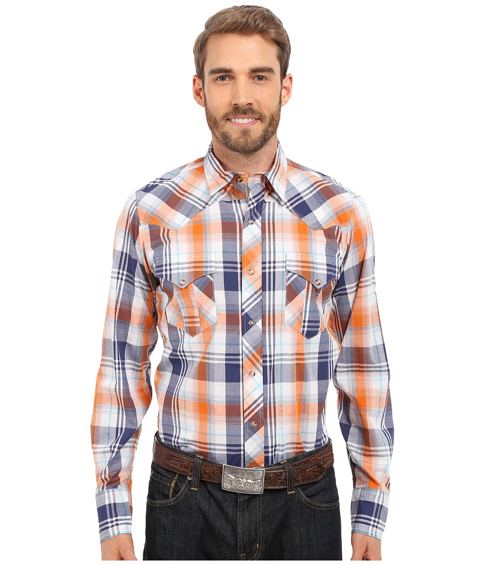 Roper - 0189 Relic Plaid (Blue) Men's Long Sleeve Button Up