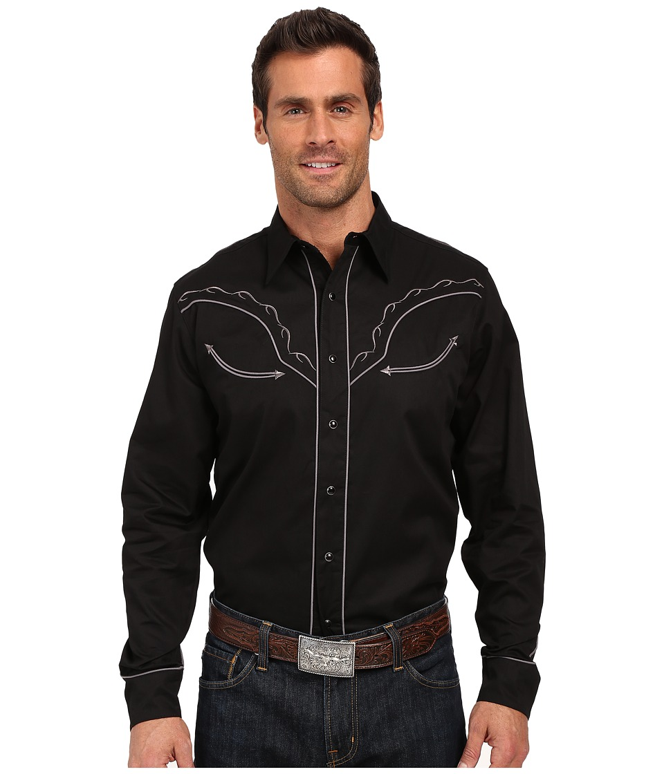 Roper - Tribal Star (Black) Men's Long Sleeve Button Up