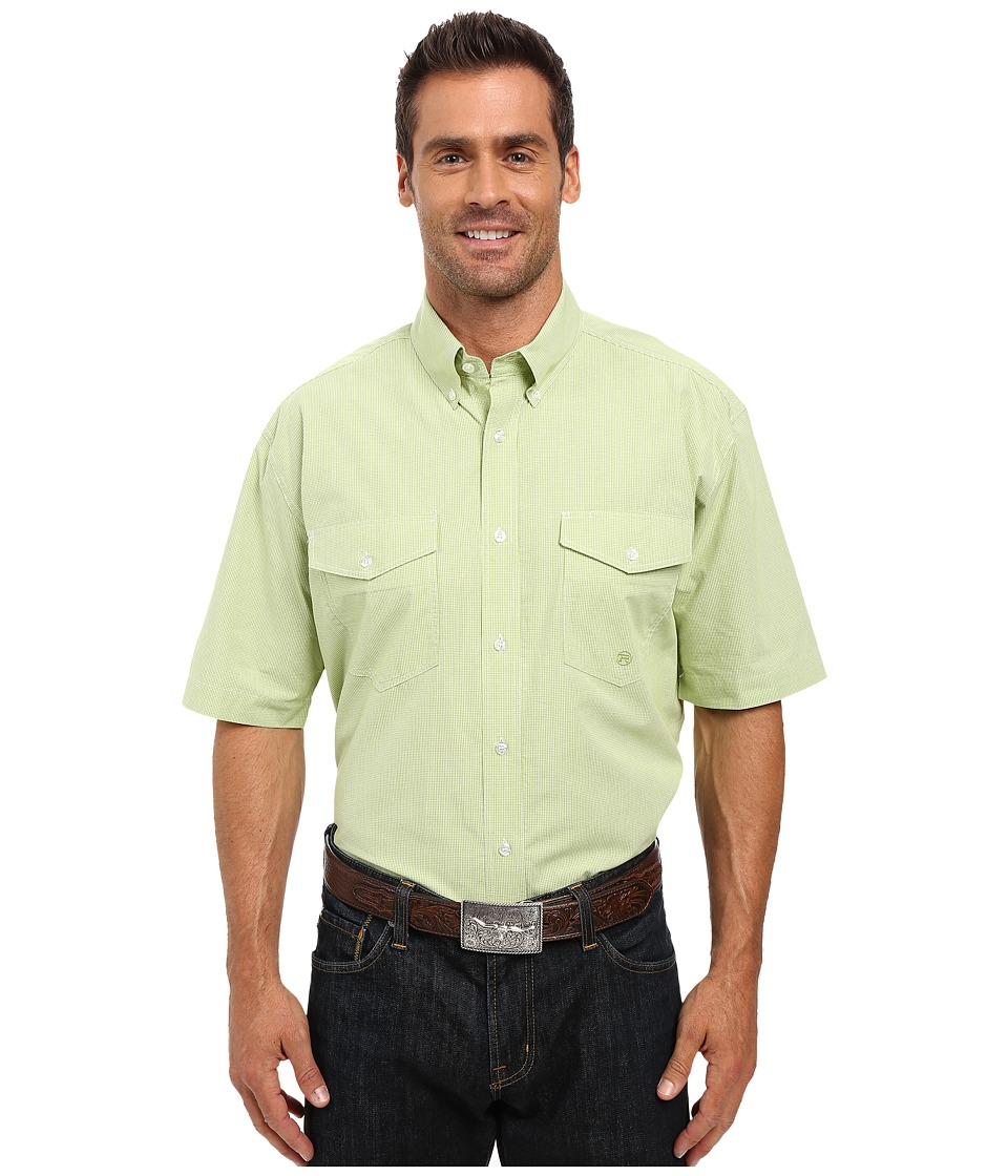 Roper - 0283 Mini Checks (Green) Men's Clothing