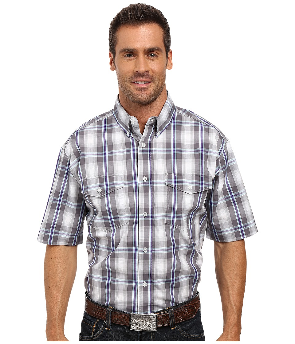 Roper - 0170 Shadow Plaid (Grey) Men's Clothing