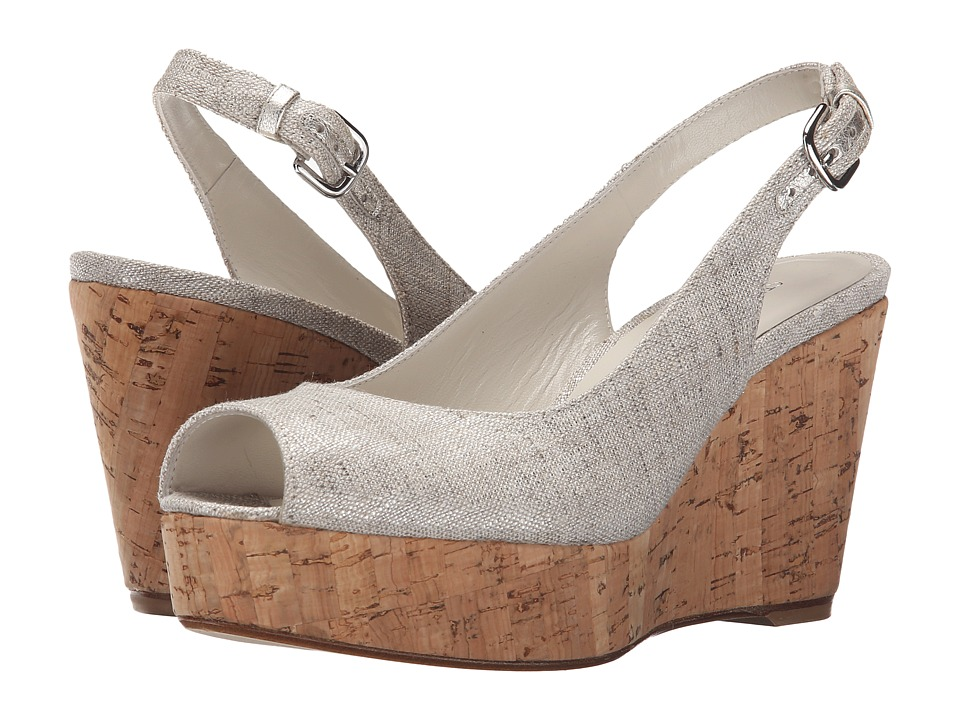 Stuart Weitzman - Jean (Plata Summer Linen) Women's Shoes