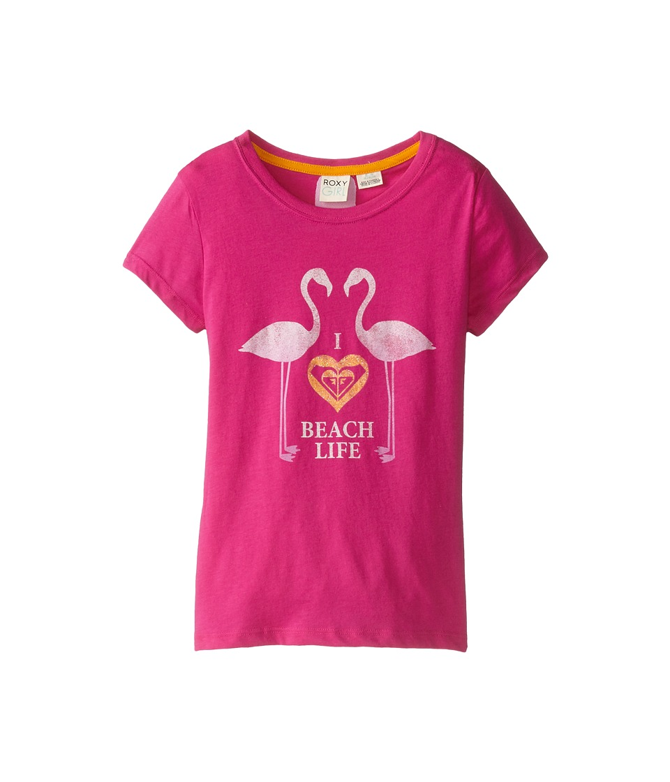Roxy Kids - Beach Life Tee (Little Kids/Big Kids) (Rose Violet) Girl's T Shirt